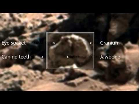 Mars Alien Monkey & Bear Skull Found in NASA Curiosity Rover Image. ArtAlienTV - 738p