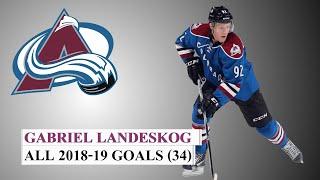 Gabriel Landeskog (#92) All 34 Goals of the 2018-19 NHL Season
