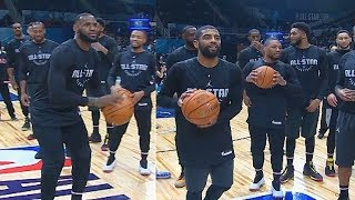 Half Court Shot Contest! LeḂron James vs Kevin Durant, Kyrie Irving, Klay Thompson, & James Harden