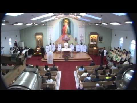 Thánh Lễ Chúa Nhật Chúa Giêsu Chịu Phép Rửa ngày 13-1-2013