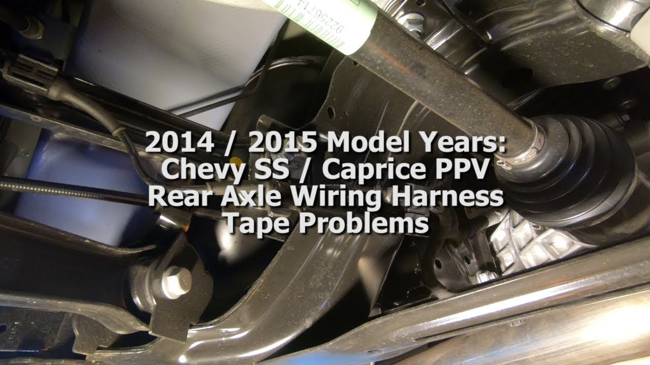 small resolution of chevy ss rear axle wiring harness tape problems youtube