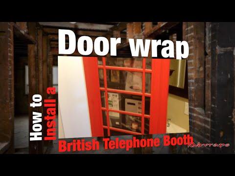 How to install a interior door wrap sticker - Garage door vinyl wrap ...