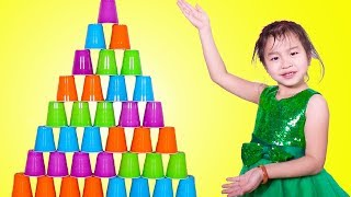Download Jannie Stacking A HUGE Cup Pyramid Mp3 and Videos