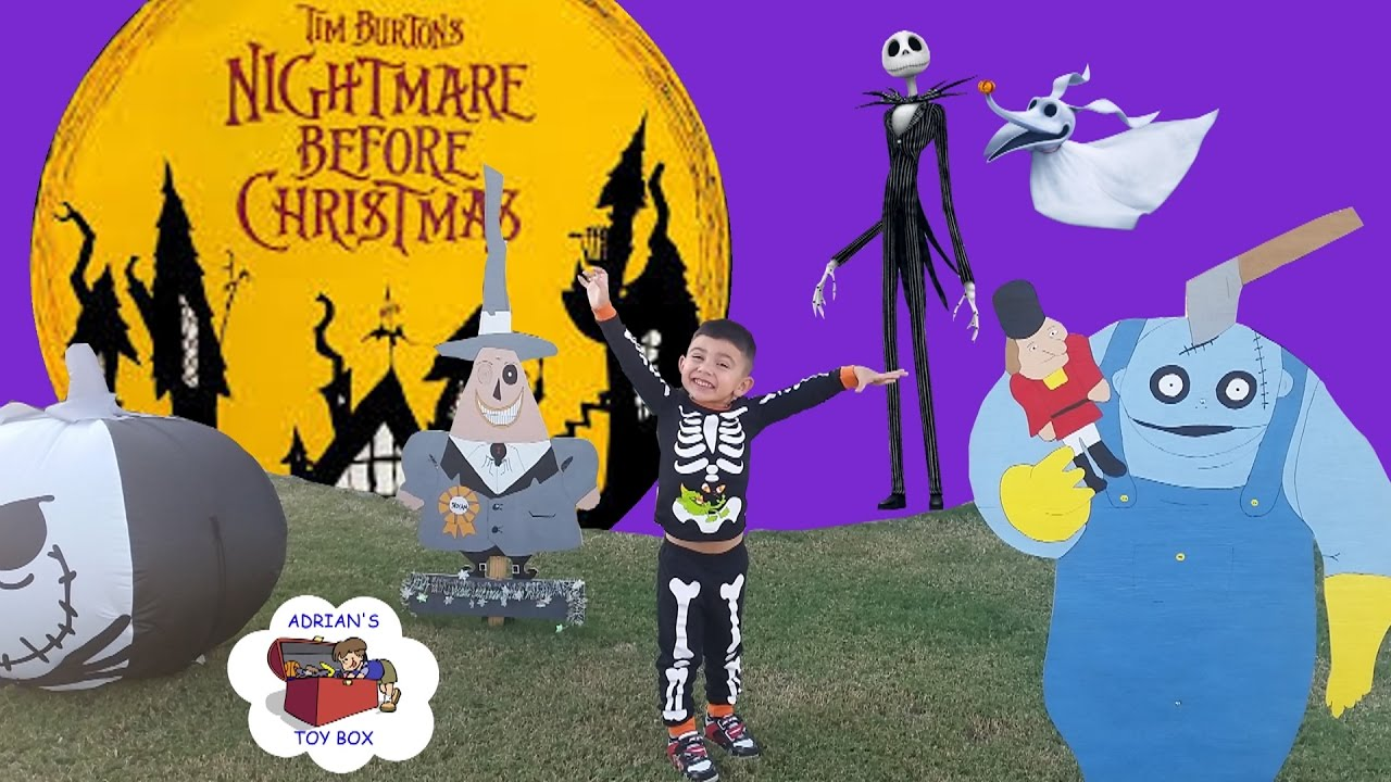 NIGHTMARE BEFORE CHRISTMAS HALLOWEEN YARD DECOR JACK SKELLINGTON SALLY OOGIE BOOGIE ZERO & MORE!