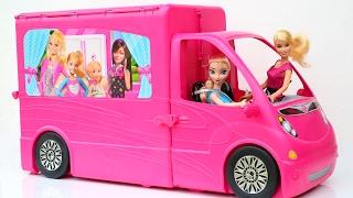 barbie doll frozen elsa giant glam camper slime toillet putty slime barbie makeover