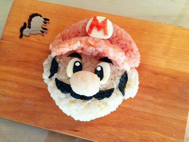 How to make Super Mario rice ball!  スーパーマリオのおにぎりの作り方☆