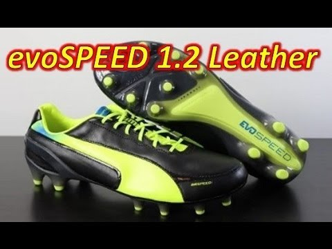 c1b447a5a4f Puma evoSPEED 1.2 Leather Black Fluo Yellow - Unboxing + On Feet - YouTube