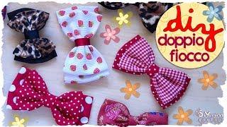 Tutorial: Come realizzare un Doppio Fiocco in Stoffa | DIY: Double Fabric Bow