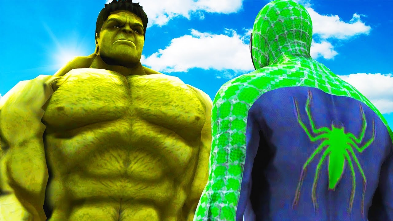 Big Hulk Vs Green Spiderman The Incredible Hulk Vs Green