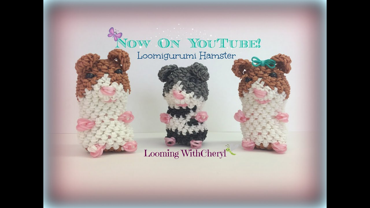 Amigurumi Loom Patterns : Rainbow loom hamster loomigurumi amigurumi hook only хомяк