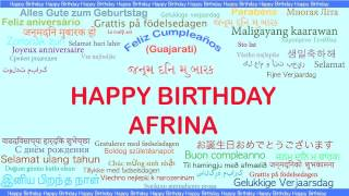 Afrina   Languages Idiomas - Happy Birthday