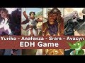 Yuriko vs Anafenza vs Sram vs Avacyn EDH / CMDR game play for Magic: The Gathering