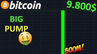 BITCOIN 9.800$ DERNIER PUMP AVANT LE CRASH !? btc analyse technique crypto monnaie