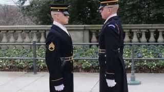 Tomb of the Unknown Soldiers Changing of the Guard at Arlington VA (Winter)