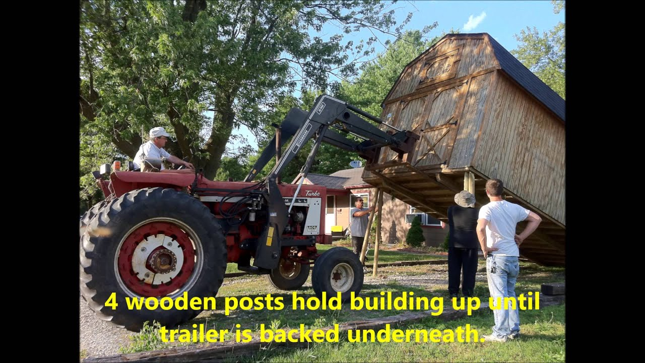 How To Move A Storage Shed.   YouTube