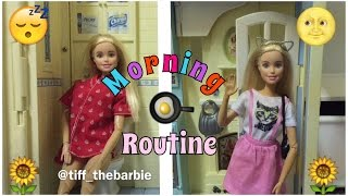 Barbie Morning Routine / barbie stop motion