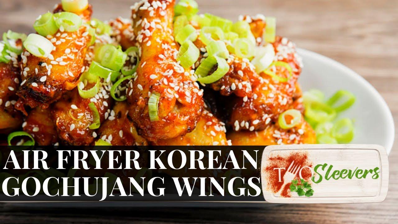 Keto Air Fried Korean Style Chicken Wings Gochujang Wings Youtube