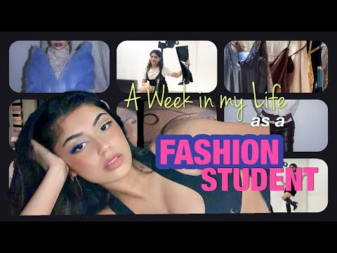 a week in my life as a fashion student (online)