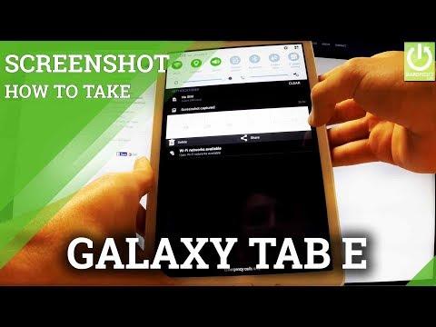 How to screenshot on samsung tab e