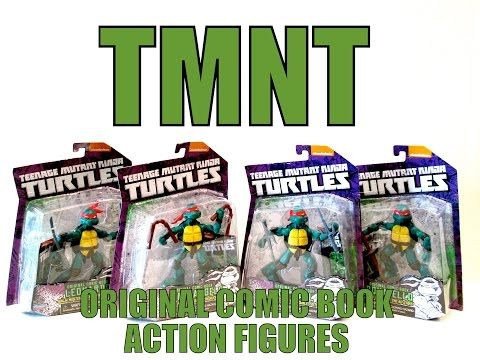 TEENAGE MUTANT NINJA TURTLES ORIGINAL COMIC BOOK ACTION FIGURES