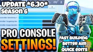 *Updated* Best Console / Controller Fortnite Settings(Faster Building and Better aim) #FearChronic