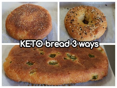 KETO ENGLISH MUFFINS, BAGELS, AND SANDWICH BREAD | 1 DOUGH