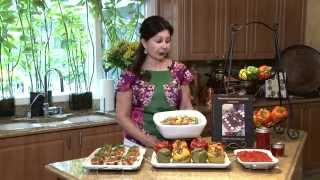 Cooking With Samira #137 Stuffed Peppers فلفل محشي، Colored Peppers Salad سلطة الفلفل الملون