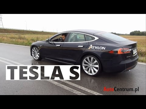 Tesla Model S 85 kWh 367 KM, 2014 PL ENG test AutoCentrum.pl 115