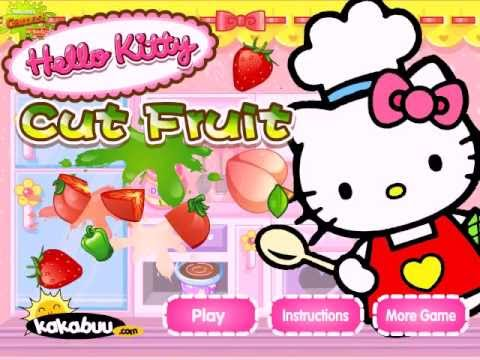 hello kitty cut fruit cooking in the kitchen game (juegos ... - photo#32