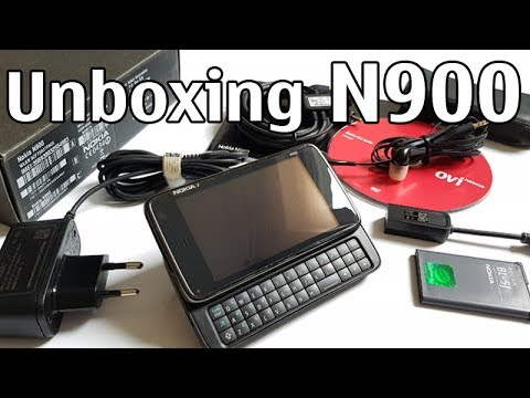 Nokia N900 Unboxing 4K with all original accessories Nseries RX-51 review