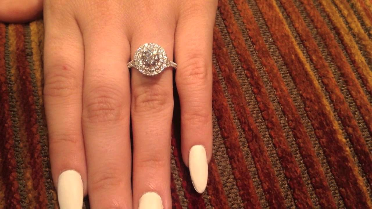 1 Carat Round Tiffany Style Cz Ring 8355 Youtube