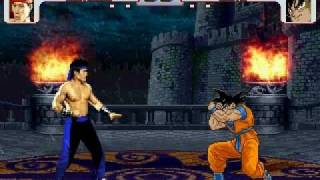 Liu Kang vs Goku MUGEN Battle!!!