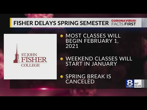 St. John Fisher College Delays Start To Spring Semester Due To COVID-19