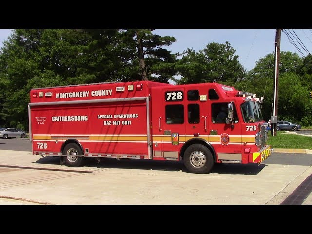 Montgomery County Hazmat 728, and Ambulance 728 Responding