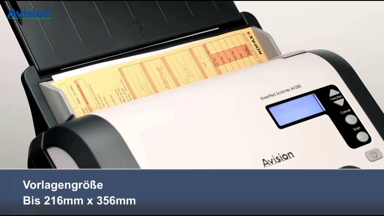 Avision Dokumentenscanner AV280 (deutche Version) - YouTube