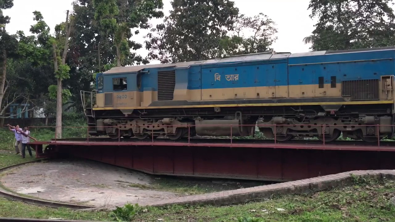 Rail turntable Mymensingh loco-shed