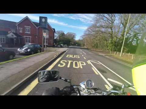 Motorcycle Ride from Southampton to Winchester UK (GoPro test 4K)