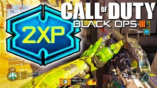 FASTEST WAY TO GET 2XP IN BO3! - Black Ops 3 - Rank Up Fast w/ Double XP (BO3 Multiplayer Tips)