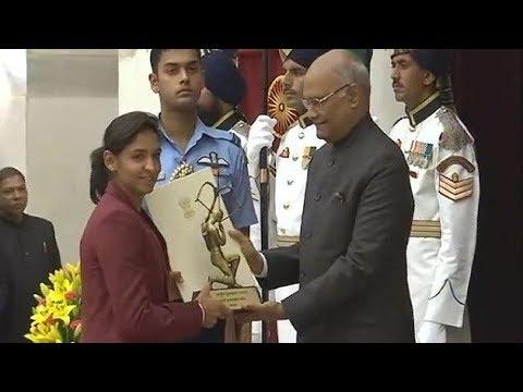 National Sports Award: President Kovind conferred Arjuna Award