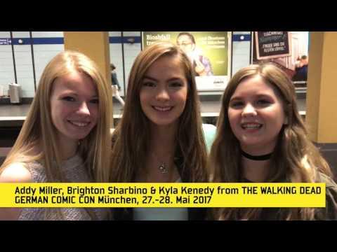 Videomessage Brighton Sharbino, Kyla Kenedy & Addy Miller THE WALKING DEAD  German Comic Con