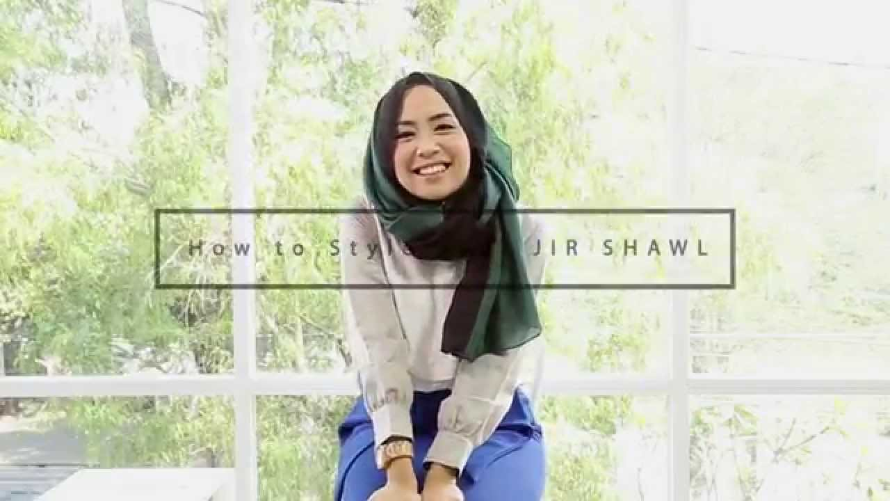 Hijab Tutorial JIR Shawl By Qonitah Al Jundiah YouTube