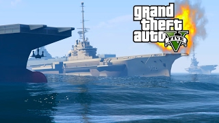 Военные Корабли 2 Авианосцы / Battle Warships 2 (GTA 5 Mods)
