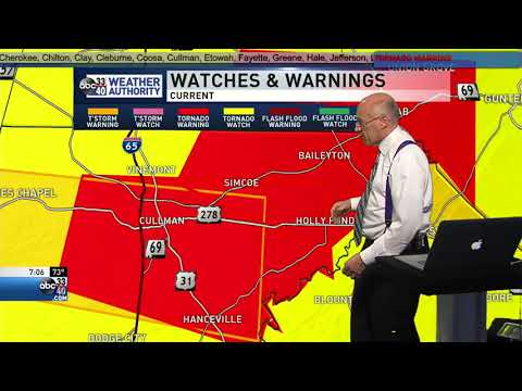 Continuous Severe Weather Coverage March 19, 2018 - 7pm hour