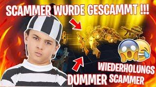 Scammer wurde gescammt !!! ...DUMMER WIEDERHOLUNGSTÄTER 😱 VIELE WAFFEN 😂 - Fortnite Rette die Welt
