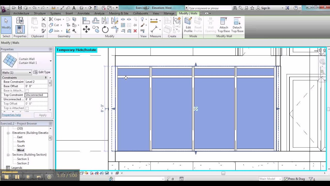 Revit curtain wall glass offset for Curtain creator software