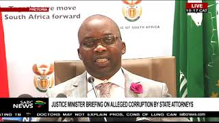 Briefing on alleged corruption by state attorneys
