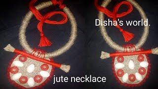 Handmade jute jewellery || jute necklace||