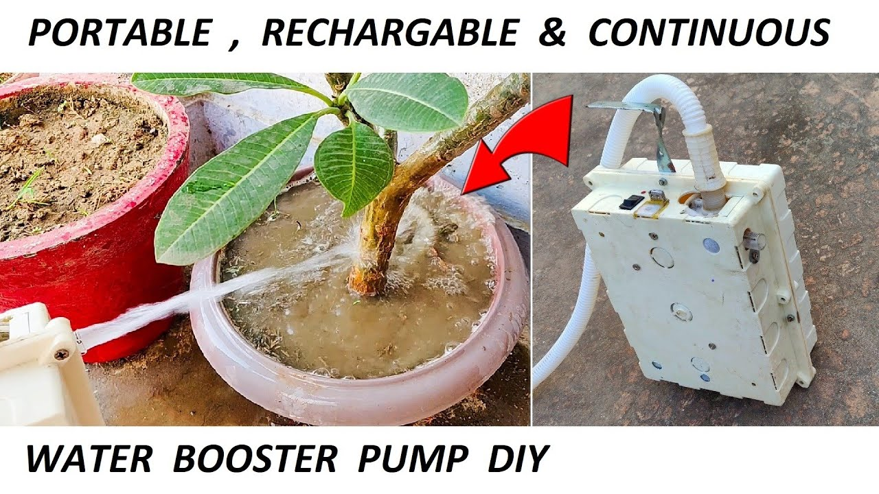 Make 12V DC Motor & UPS Battery Operated Rechargeable Water Pump