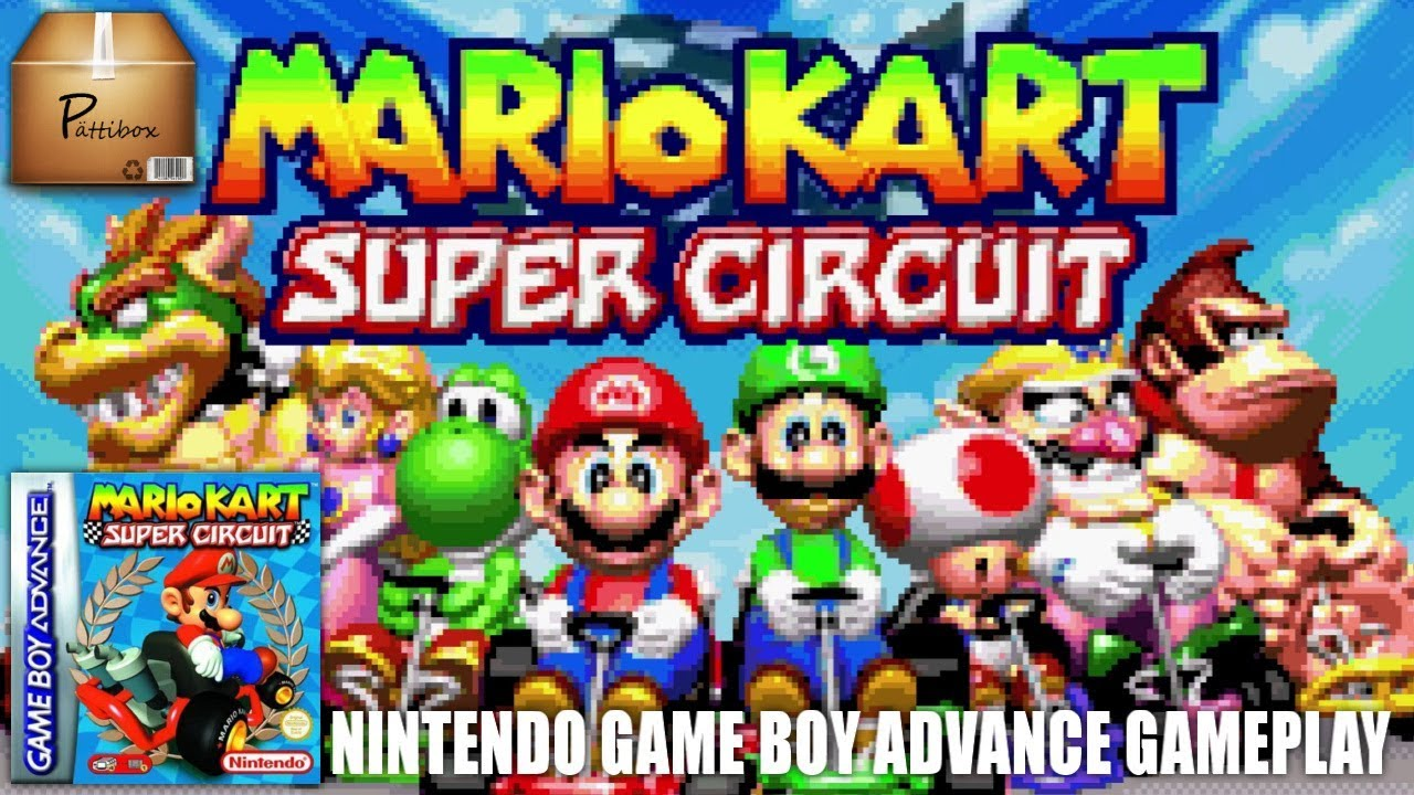 Mario Kart Super Circuit 2001 Game Boy Advance Gameplay Pttibox Games For Nintendo Gb Video