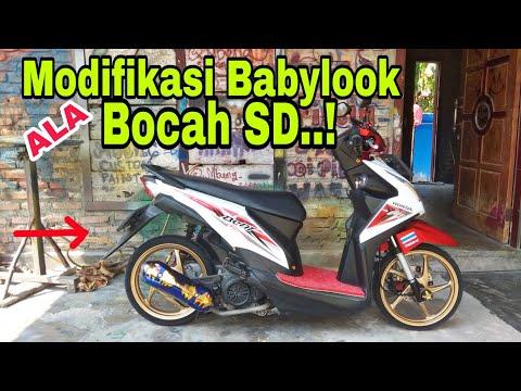 Beat Fi Babylook Ala Bocah Sd Beat Babylook Modif Murah Youtube